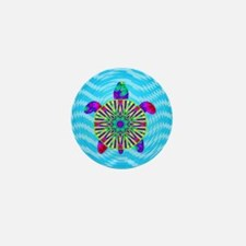 Colorful Sea Turtle Mini Button