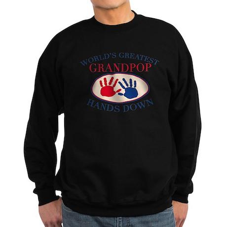 Best Grandpop Hands Down Sweatshirt (dark)