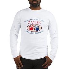 Best Zayde Hands Down Long Sleeve T-Shirt
