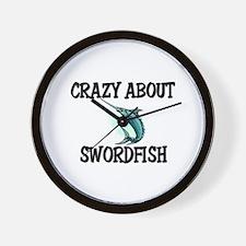 Crazy About Swordfish Wall Clock