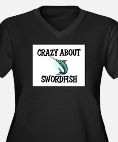 Crazy About Swordfish Women's Plus Size V-Neck Dar