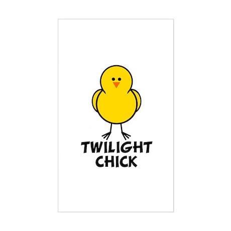 Twilight Chick Rectangle Sticker