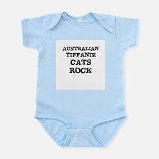 AUSTRALIAN TIFFANIE CATS ROCK Infant Creeper
