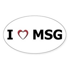 I 'Heart' MSG Oval Decal