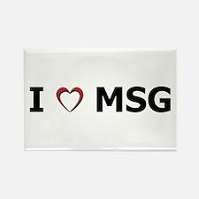 I 'Heart' MSG Rectangle Magnet