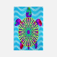 Colorful Sea Turtle Rectangle Magnet
