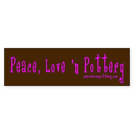 Girl Love Peace n Pottery Bumper Sticker