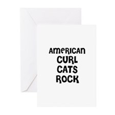 AMERICAN CURL CATS ROCK Greeting Cards (Package of