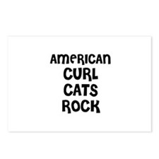 AMERICAN CURL CATS ROCK Postcards (Package of 8)