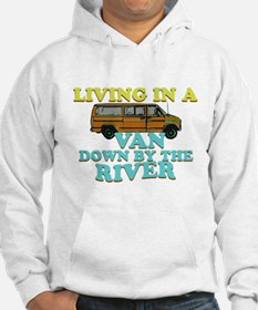 Living in a van down by the r Jumper Hoody