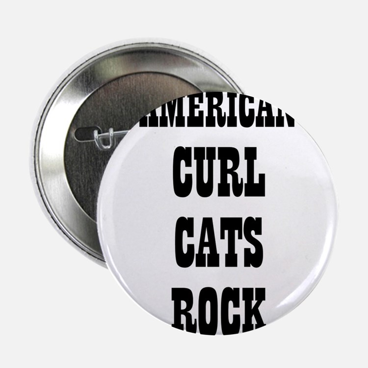 """AMERICAN CURL CATS ROCK 2.25"""" Button (10 pack)"""
