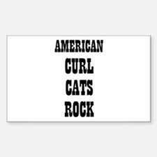 AMERICAN CURL CATS ROCK Rectangle Decal