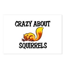 Crazy About Squirrels Postcards (Package of 8)