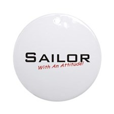 Sailor / Attitude Ornament (Round)