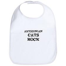ABYSSINIAN CATS ROCK Bib