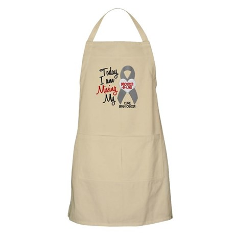 Missing 1 Brother-In-Law BRAIN CANCER BBQ Apron