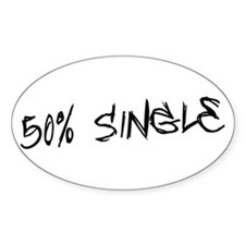 50% Single Oval Decal