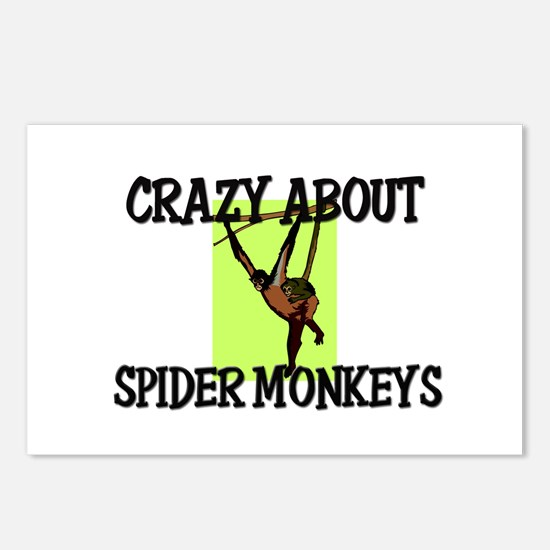 Crazy About Spider Monkeys Postcards (Package of 8