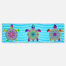Colorful Sea Turtle Bumper Bumper Sticker