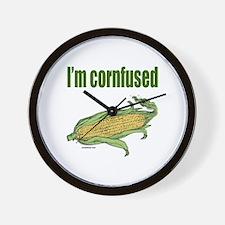 I'M CORNFUSED Wall Clock