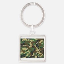 Funny Camouflage Square Keychain