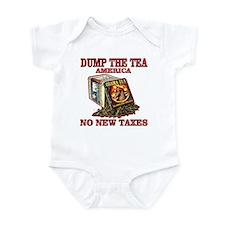 tea party anti new taxes Infant Bodysuit