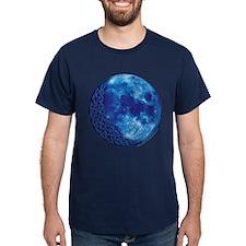 Celtic Knotwork Blue Moon T-Shirt
