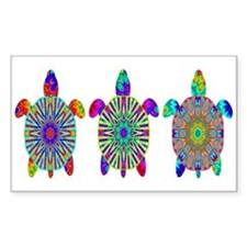 Colorful Sea Turtle Decal