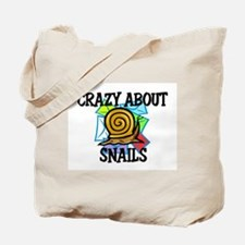 Crazy About Snails Tote Bag