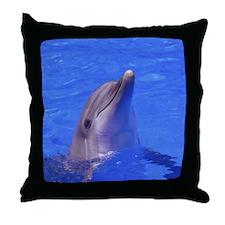 """Friendly Dolphin"" Throw Pillow"