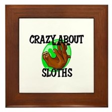 Crazy About Sloths Framed Tile