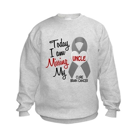 Missing 1 Uncle BRAIN CANCER Kids Sweatshirt