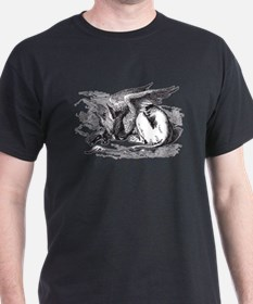 Sleeping Gryphon Black T-Shirt