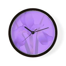 Iris Wall Clock - Purple