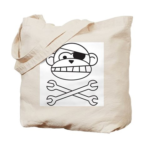 Pirate Monkey Tote Bag