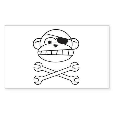 Pirate Monkey Rectangle Sticker