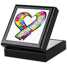 Puzzle Ribbon Heart Keepsake Box