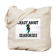 Crazy About Seahorses Tote Bag
