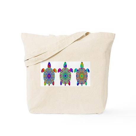 Colorful Sea Turtle Tote Bag