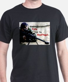 Vote from the Rooftops on Darkk T-Shirt