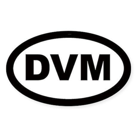 DVM Car Oval Sticker
