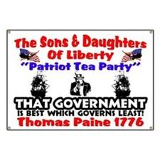 """""""Thomas Paine: Government"""" Banner"""