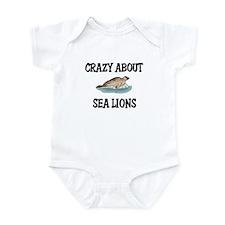 Crazy About Sea Lions Infant Bodysuit