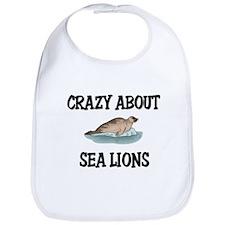 Crazy About Sea Lions Bib