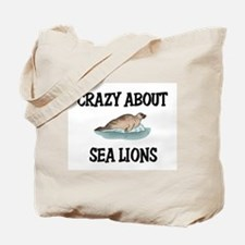 Crazy About Sea Lions Tote Bag