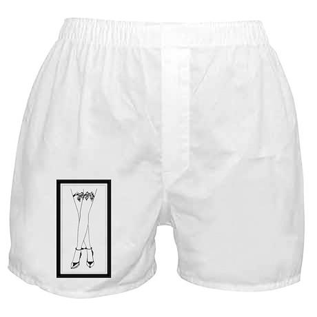 Stockings Bows & Cuffs Boxer Shorts
