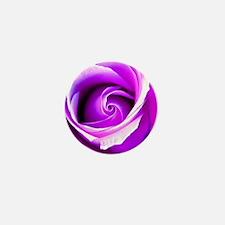 Funny Purple rose Mini Button