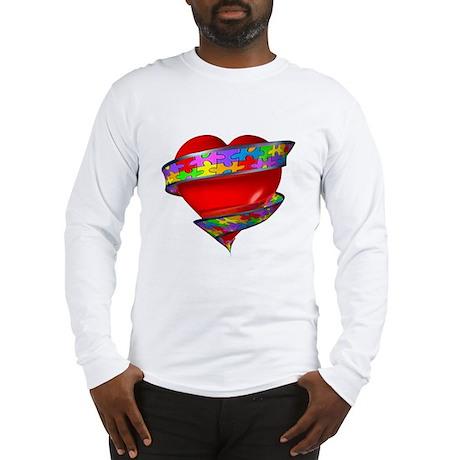 Red Heart w/ Ribbon Long Sleeve T-Shirt