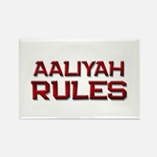 aaliyah rules Rectangle Magnet