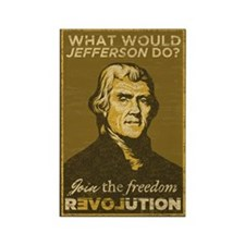 What Would Jefferson Do? Rectangle Magnet